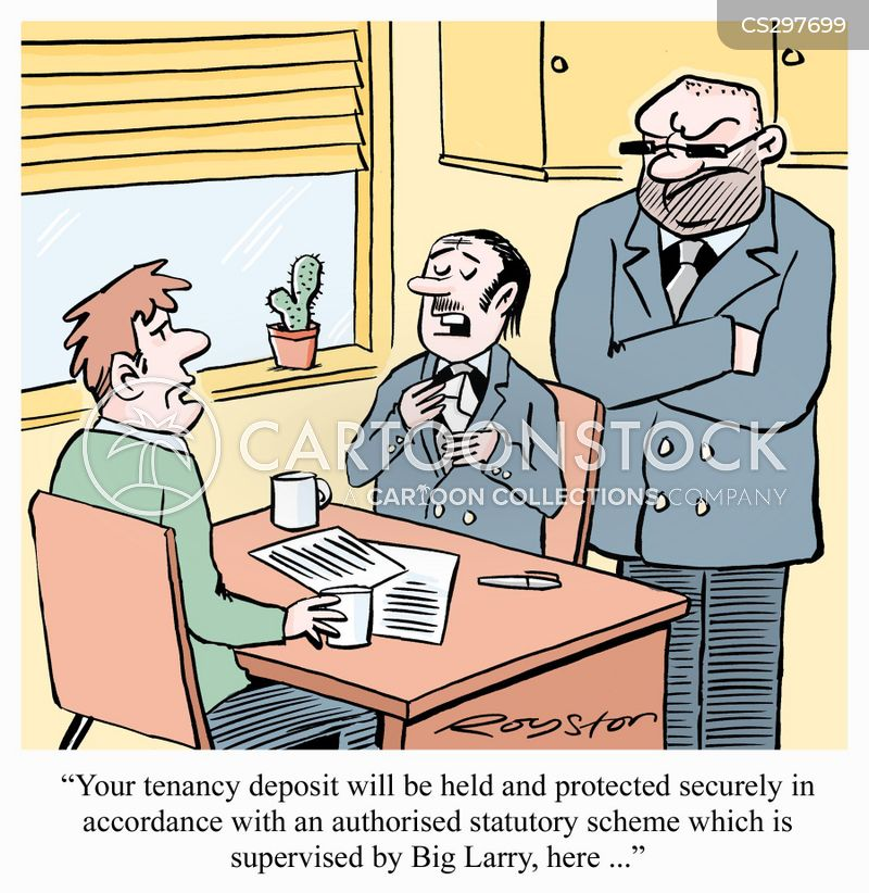 rental deposits cartoon