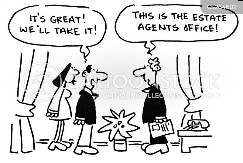 letting agent cartoon