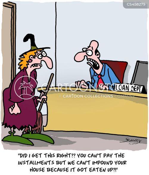 mortgage repayment cartoon