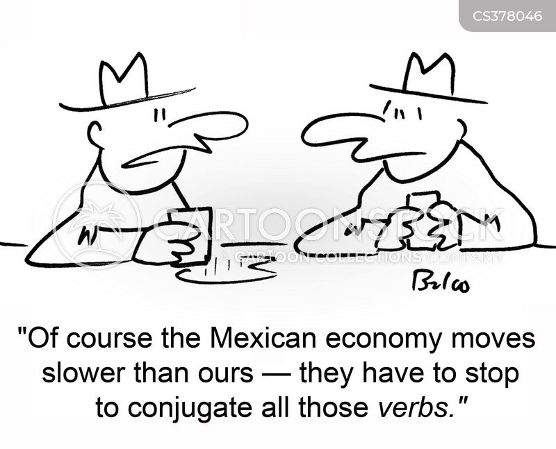 verb cartoon