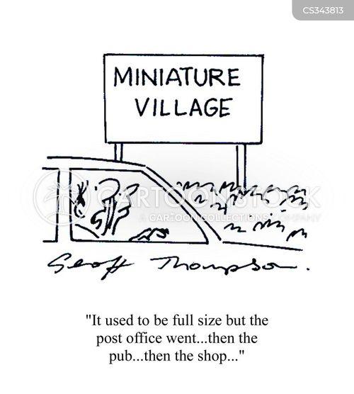 village pubs cartoon