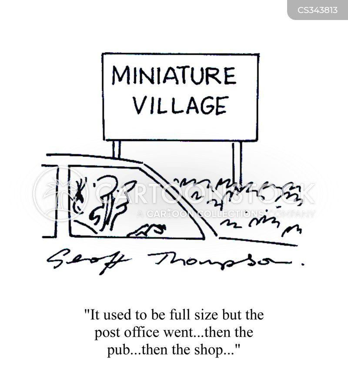 village pub cartoon