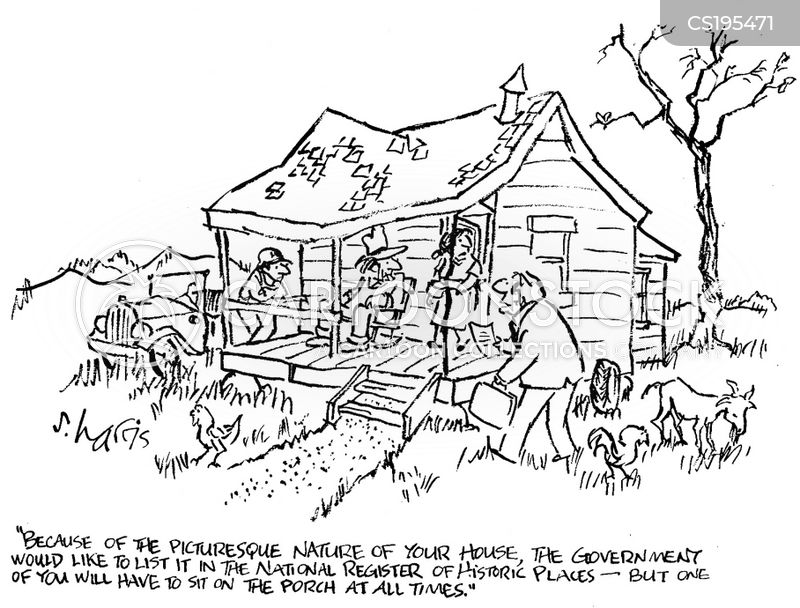 Run down house cartoon pictures
