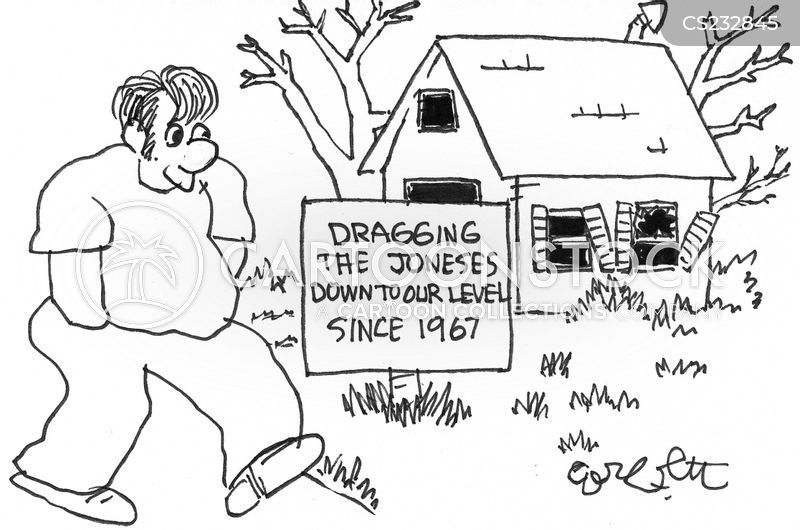 keep up with the joneses cartoon