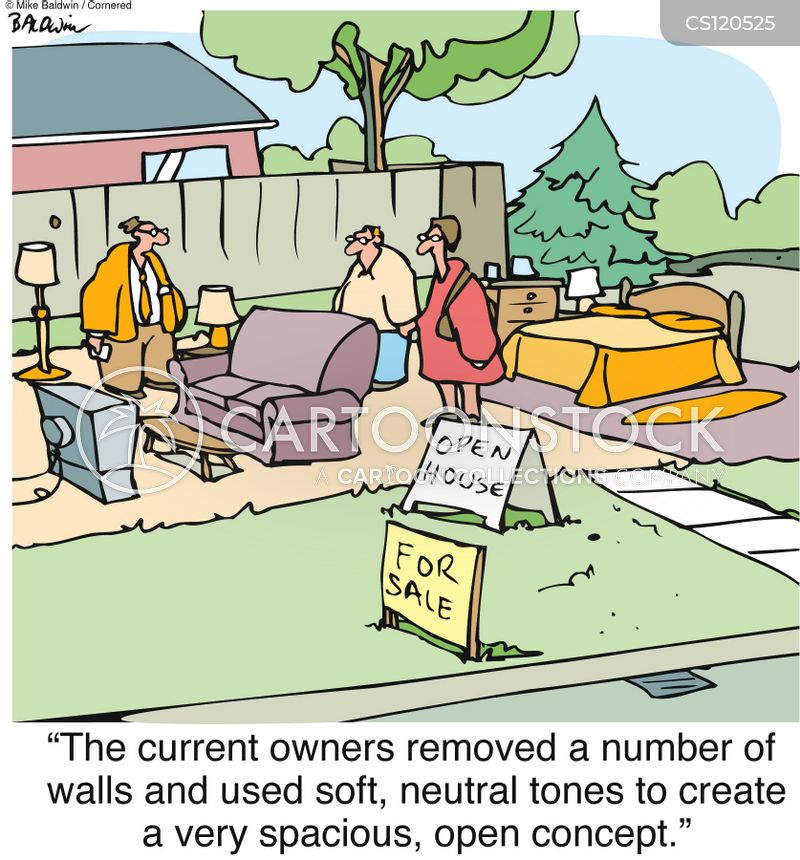 home buying cartoon
