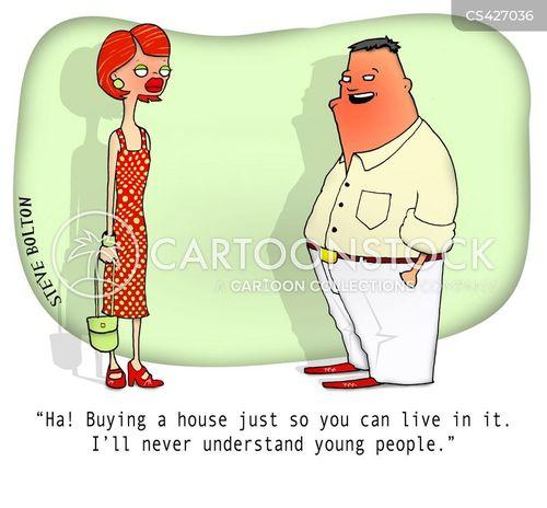 first-time buyers cartoon