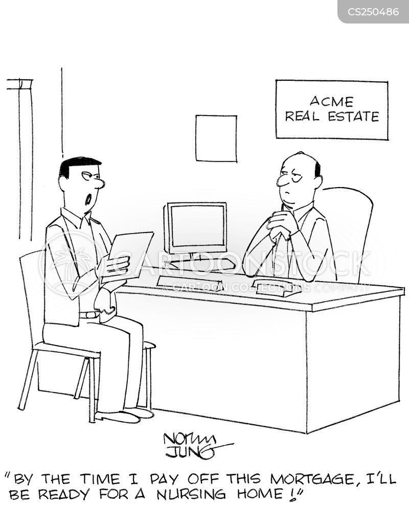 mortgage payment cartoon