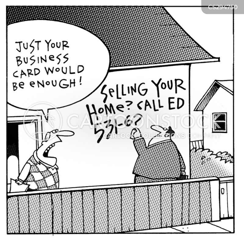 house seller cartoon