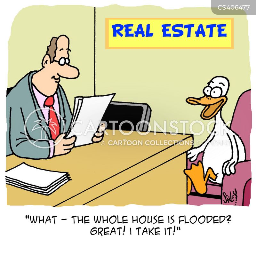 property hunting cartoon