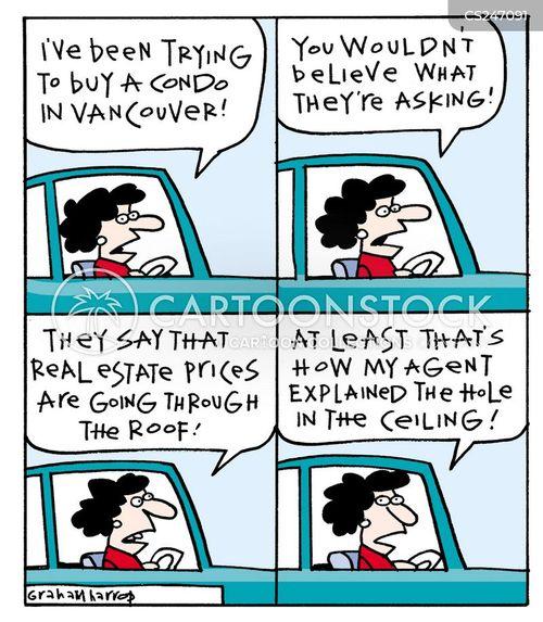 house seller cartoon