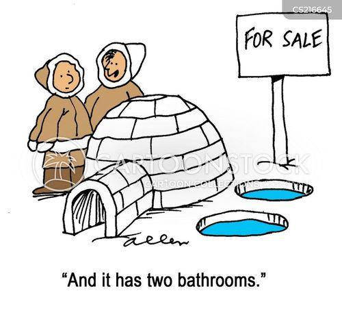 house selling cartoon