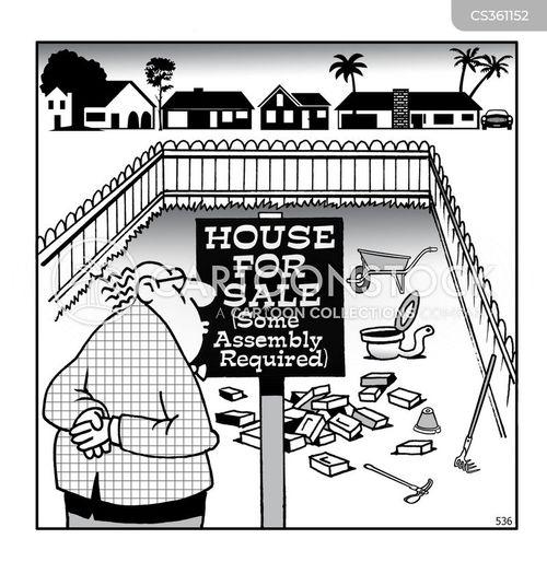 house sales cartoon