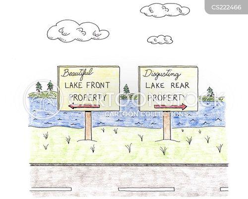 country road cartoon