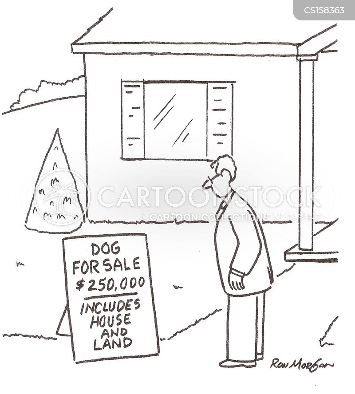 dogs for sale cartoon