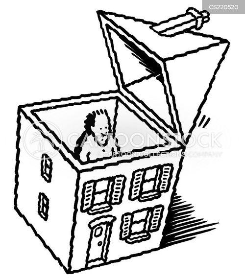 through the roof cartoon