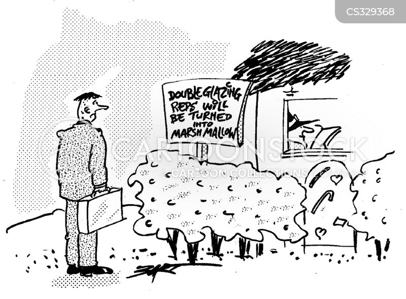 Marshmallows cartoons and comics funny pictures from for Double glazing salesman