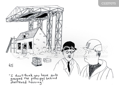 buying houses cartoon