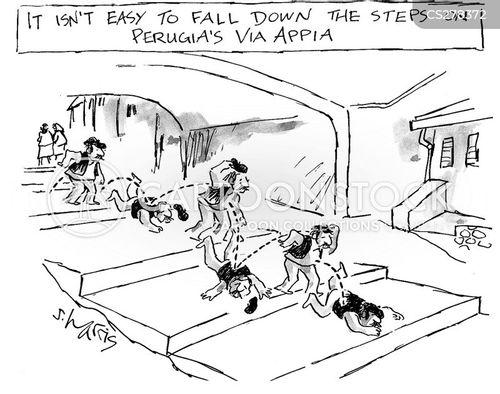 fall down cartoon