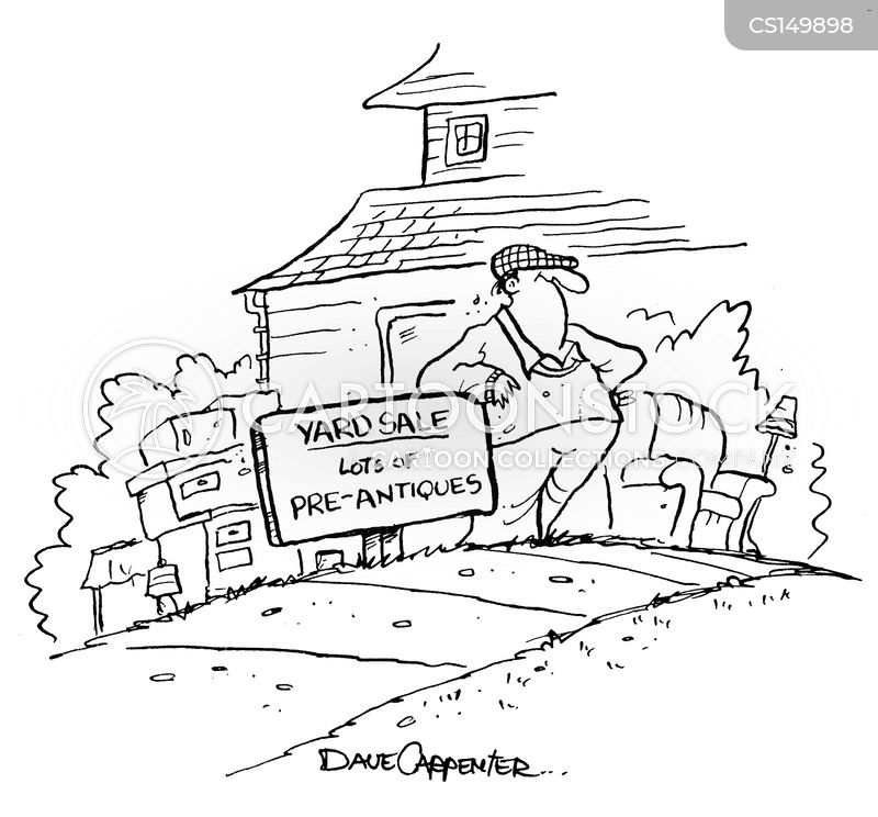 antiques sale cartoon