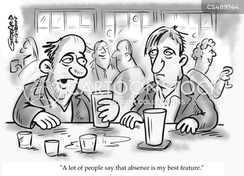 self-effacing cartoon