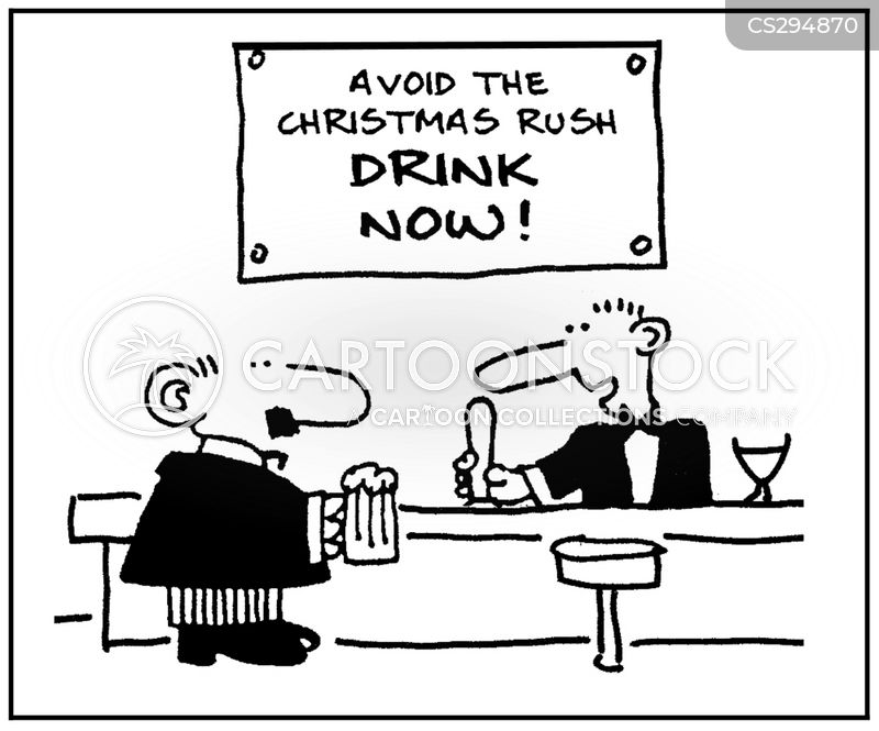 christmas rush cartoon
