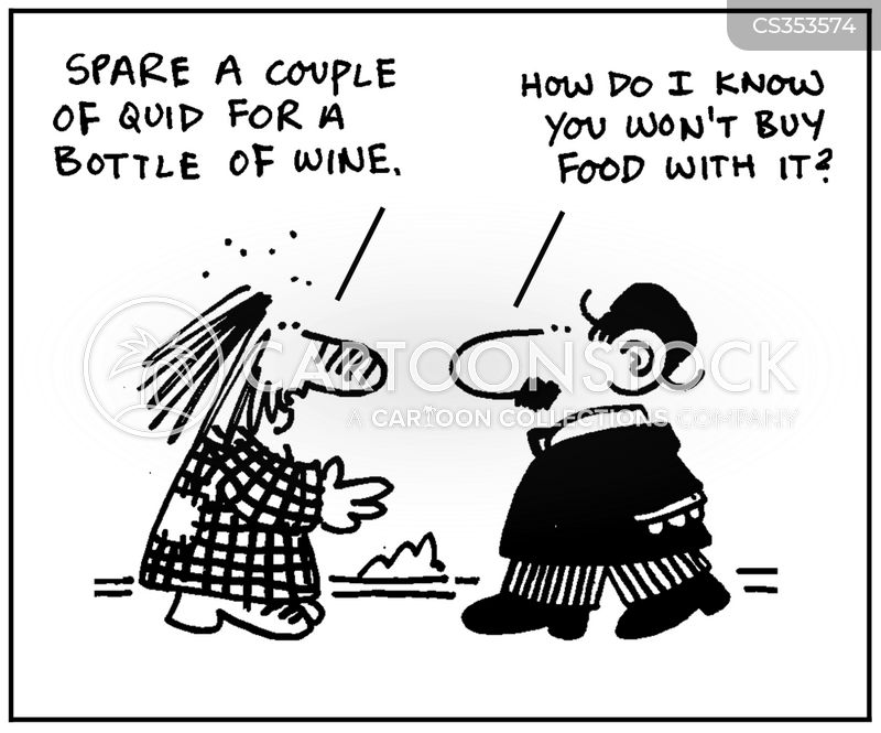 acts of charity cartoon