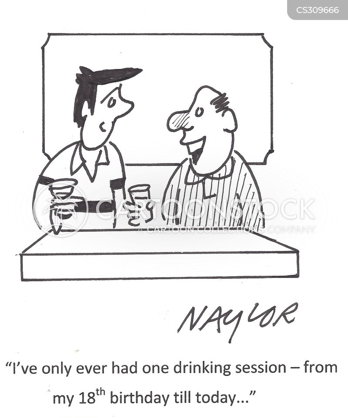 drinking habit cartoon
