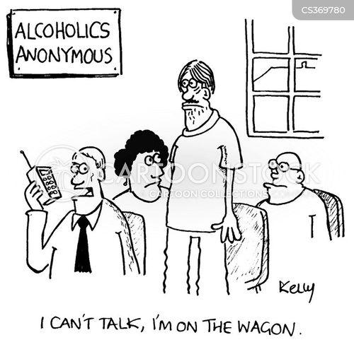 on the wagon cartoon