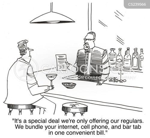 bar tabs cartoon