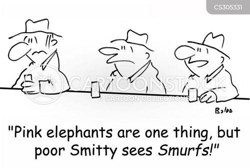 pink elephants cartoon