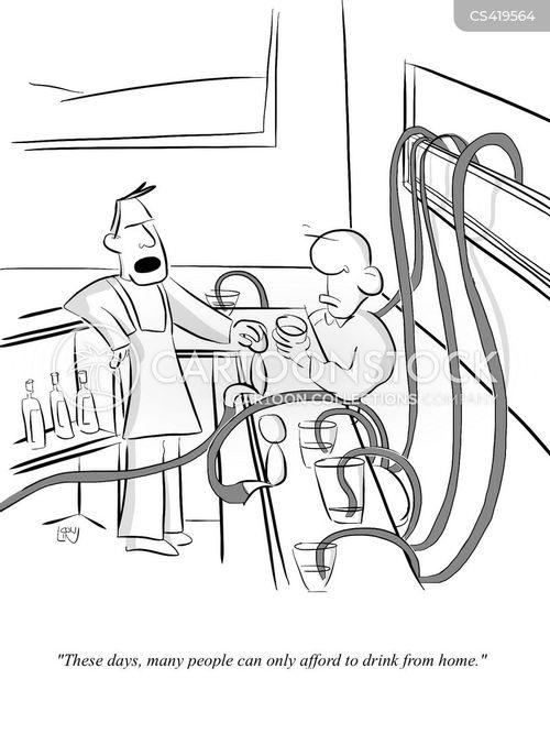 local bar cartoon