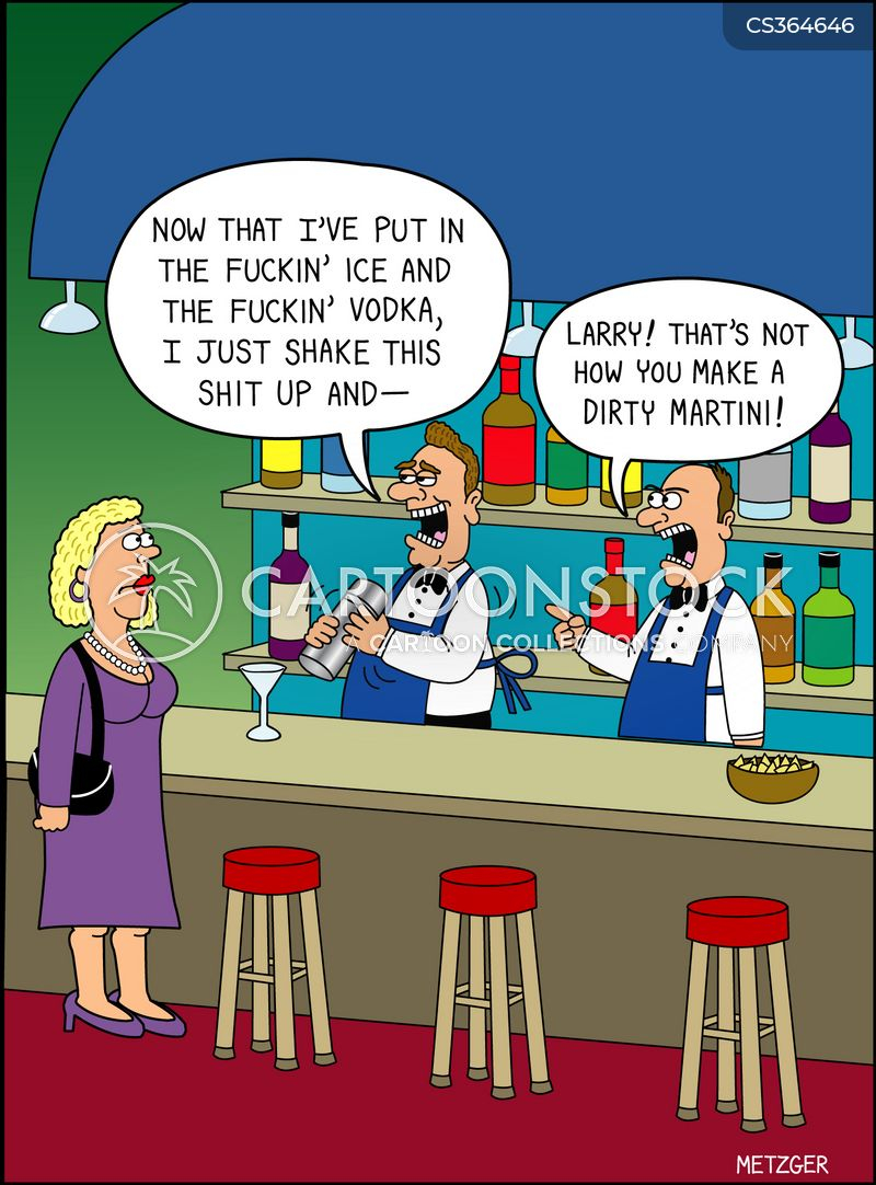 dirty martini cartoon