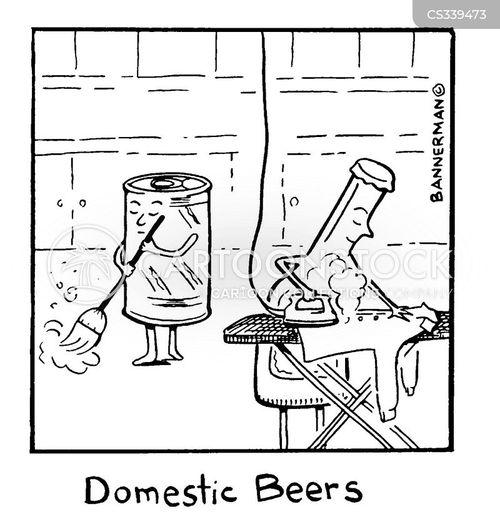 domestic beer cartoon