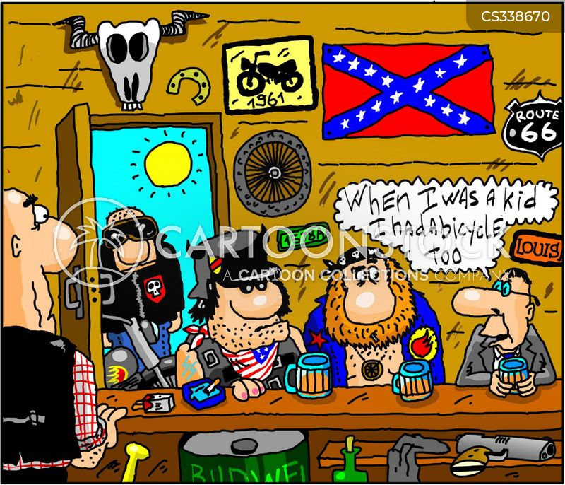 bike gang cartoon