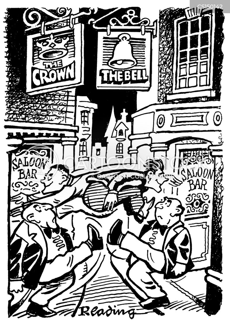 out on the town cartoon