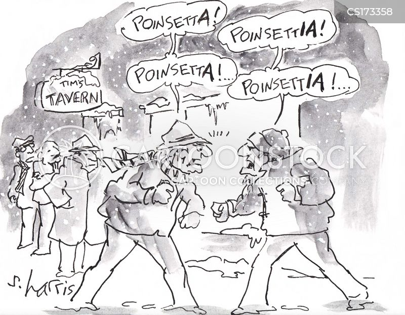 bar fight cartoon