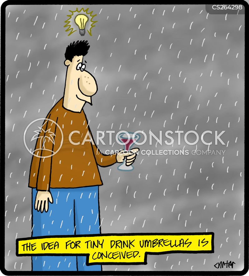 cocktail umbrella cartoon