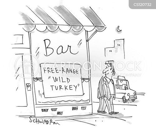 cocktail menu cartoon