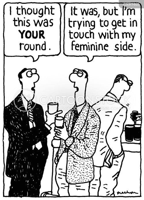 feminine sides cartoon
