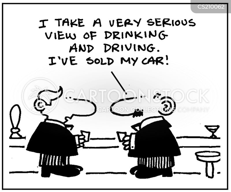 drinking and driving cartoon