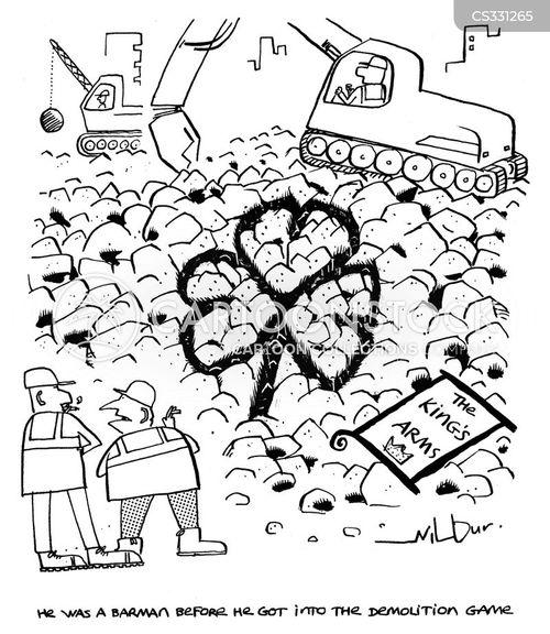 heavy machinery cartoon