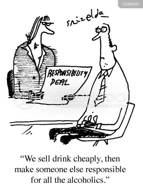 drinks industry cartoon