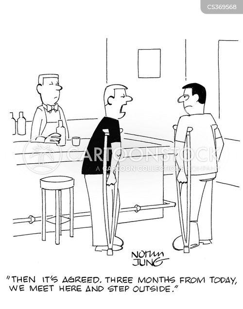 drunken fights cartoon