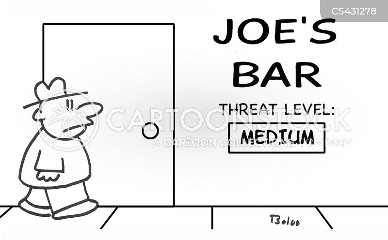 bar brawl cartoon