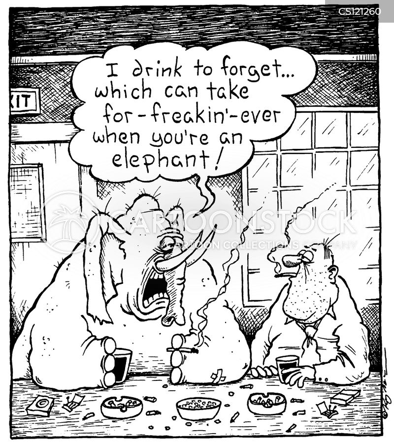drink to forget cartoon