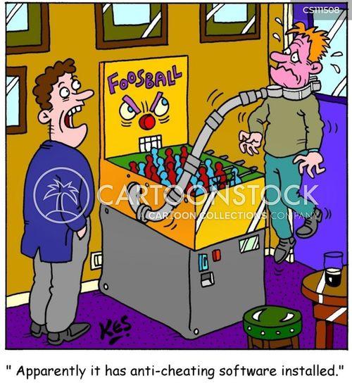 public house cartoon