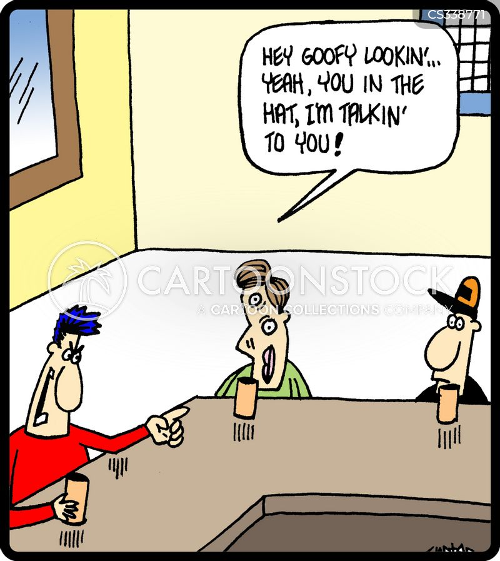 bar brawls cartoon
