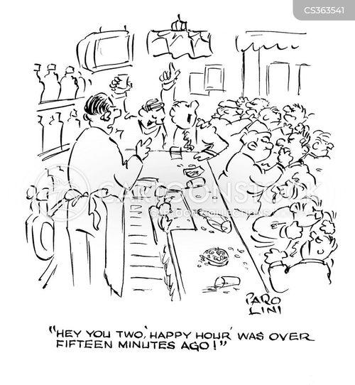 bar room brawls cartoon