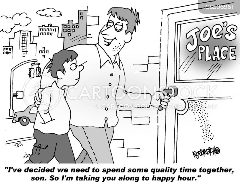 father-son bond cartoon