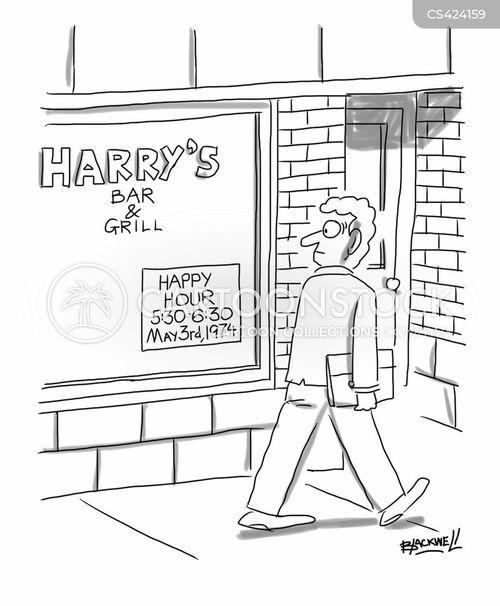 bar & grill cartoon